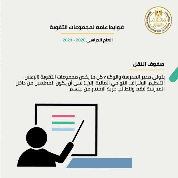 رسمياً..  التعليم تعلن ضوابط مجموعات التقوية للطلاب فى المدارس 21727