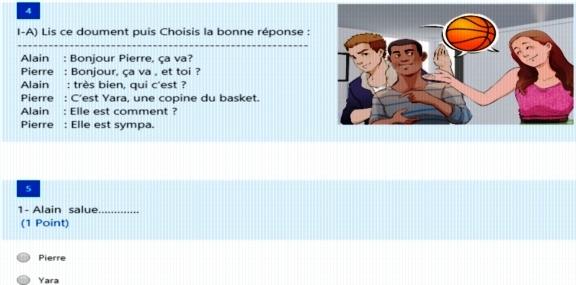امتحان لغة فرنسية ألكتروني للصف الأول الثانوي نظام جديد 2019 أ/ أحمد الحنفى 22116
