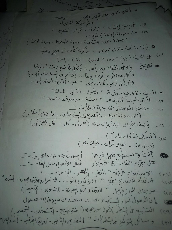 مراجعة لغة عربية الثانوية العامة.. أسئلة المنصة وحصص مصر بالإجابة + تلخيص القصة والأدب والنحو والبلاغة 22697