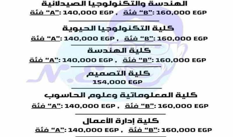 مصروفات كليات الجامعة الألمانية في مصر 22777