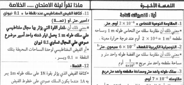 مراجعة الفيزياء للثانوية العامة أ/ علاء منير 25207