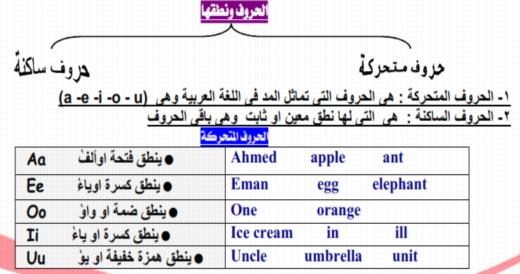 اقوى مذكرة تأسيس لغة إنجليزية للمرحلة الإبتدائية مستر محمد فوزي 25222