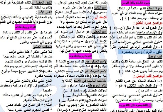 مراجعة النحو شامل 3ث في 9 ورقات فقط  - صفحة 2 2523