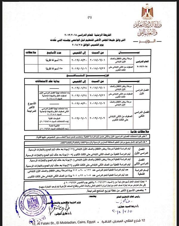 «التعليم» تحسم الخلاف حول احتساب يوم السبت إجازة رسمية بالمدارس  278