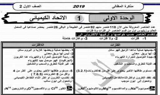 مذكرة العلوم للصف الأول الاعدادي ترم ثاني 2019 أ/خالد المظالي