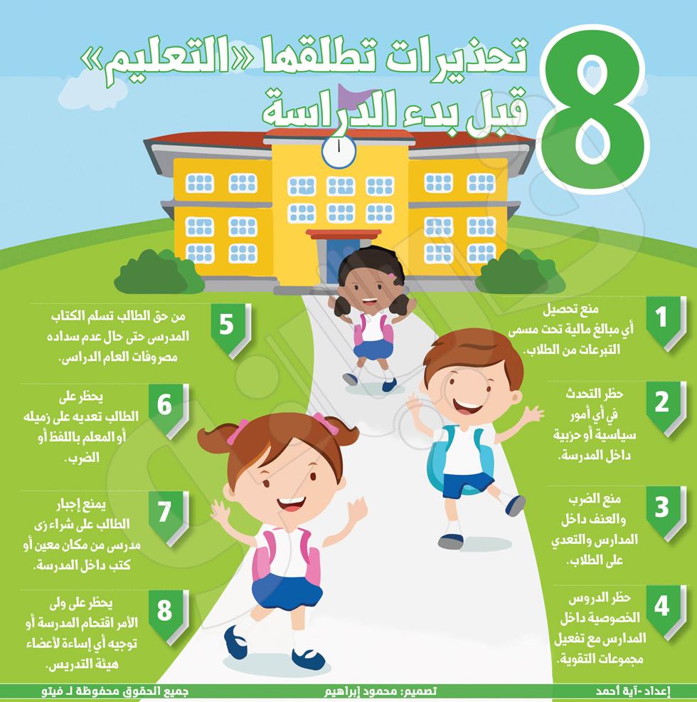 تعرف على..  تحذيرات وزارة التعليم قبل بدء الدراسة  28210