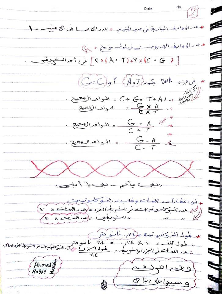اقوي ملخص DNA تالته ثانوي 2858
