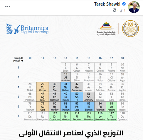 وزير التعليم ينشر رابط بريتانيكا التفاعلي لمراجعة كيمياء الثانوية العامة l نظام جديد  289