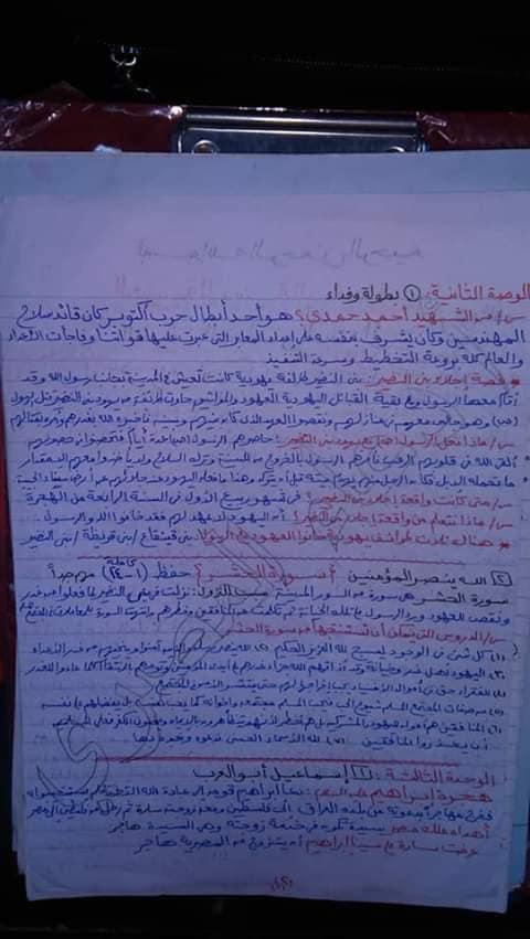مراجعة الدين للصف الخامس الابتدائي ترم ثاني أ/ دعاء المصري 2939
