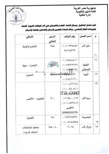 المعلمين: 15 معملاً لإجراء تحاليل كورونا للأعضاء 30114