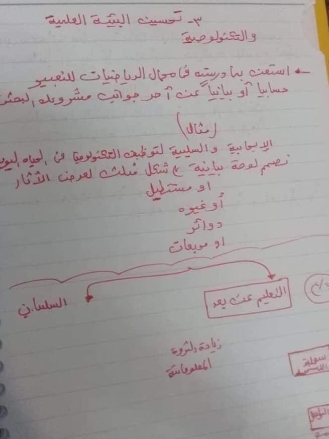 مسائل الرياضيات الموجودة في بحث الصف الاول الاعدادي 31079