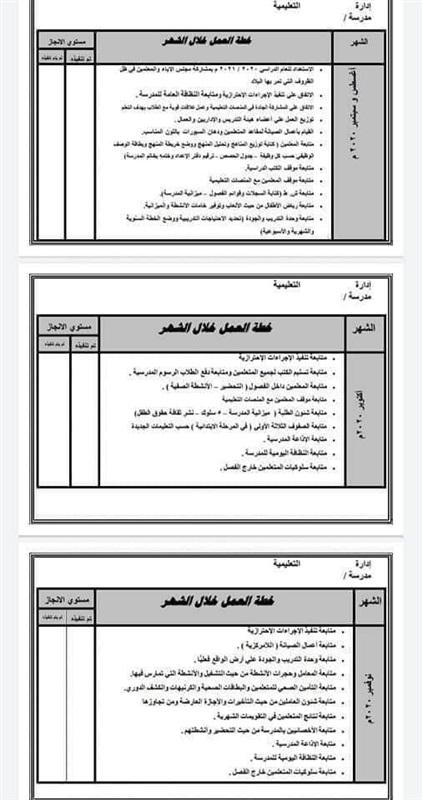 خطة التعليم لمديري المدارس للعام الدراسي 2020 / 2021 31229
