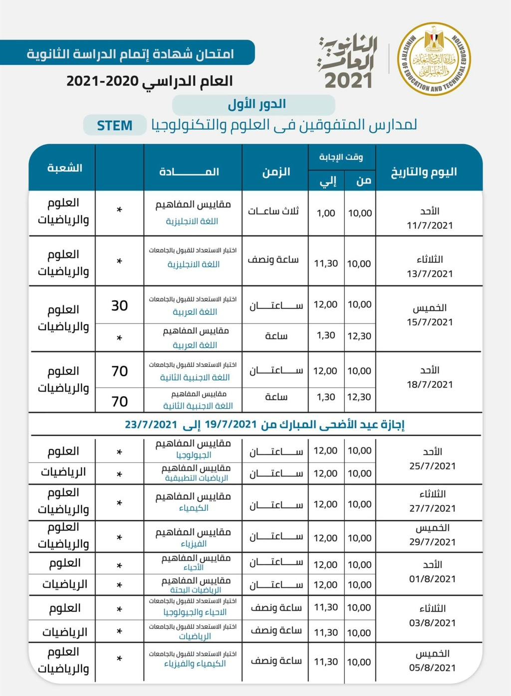 طريقة تظليل رقم الجلوس والإجابات في البابل شيت الثانوية العامة2021 31698