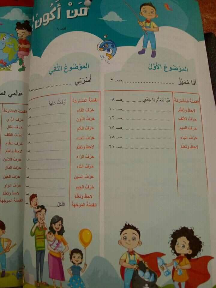 كتاب اللغة العربية الجديد للصف الأول الابتدائي 2019.. تعليم 2.0  3219