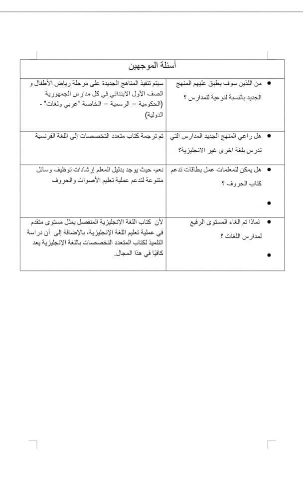 إجابات الأسئلة المكررة عن النظام التعليمي الجديد 3235