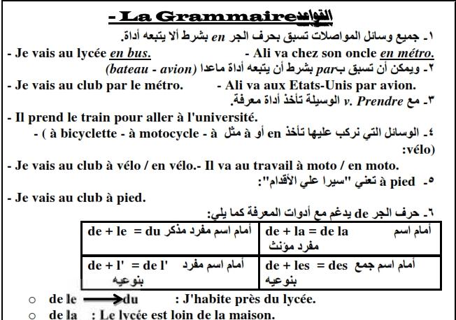 أفضل مراجعة لغة فرنسية للصف الثاني الثانوى ترم أول 2019 مسيو ابو المجد 3376