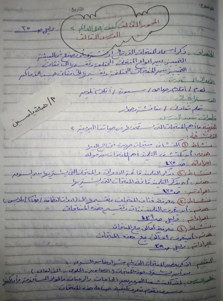 تحضير لغة عربية للصف الأول الإبتدائى ترم ثانى نظام جديد أ/ هبة ياسين 35101