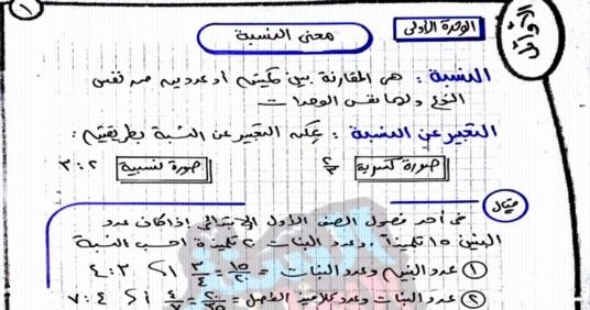 مراجعة الأوائل في الرياضيات للصف السادس الابتدائى ترم أول 2019 أ/ ياسر محمد  3535