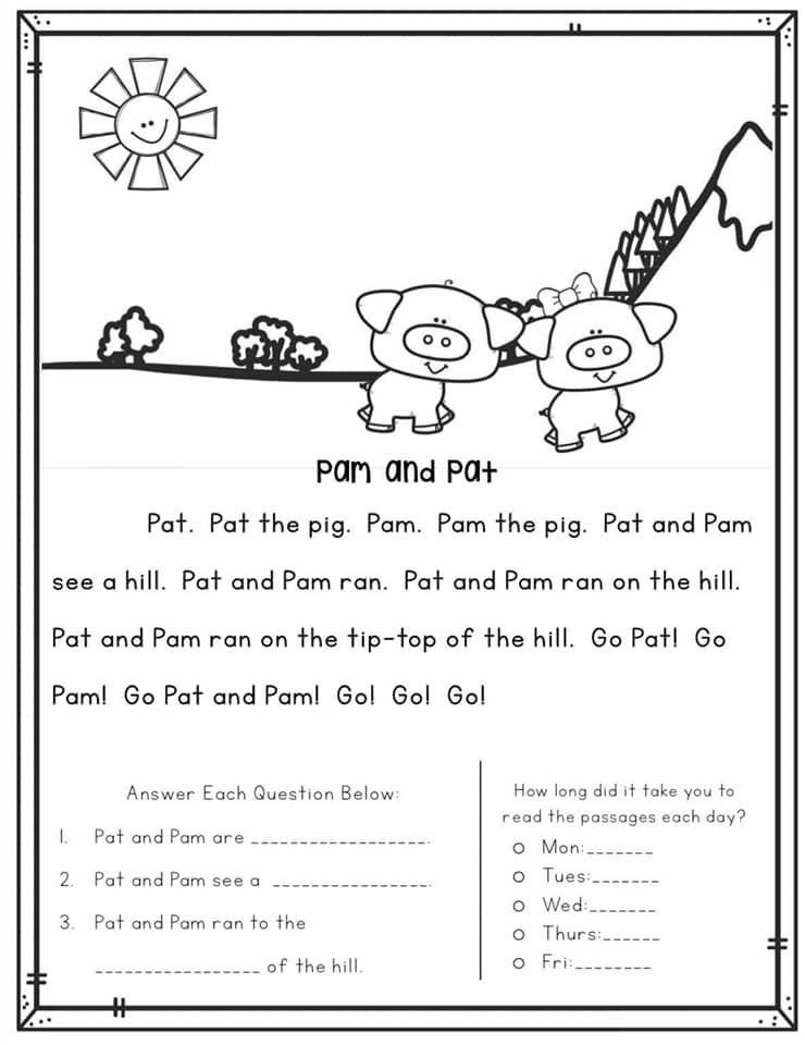 قطع الفهم في اللغة الانجليزية للصف الاول والثاني والثالث الابتدائي 3690