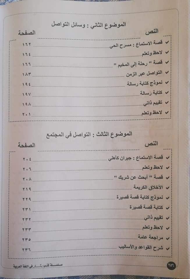 منهج اللغة العربية للصف الثاني الابتدائي ترم ثان 2020 3969