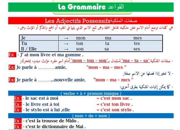 مراجعة شاملة لغة فرنسية للصف الاول الثانوي ترم ثاني.. أهم الكلمات والقواعد و 200 سؤال مجاب  41050