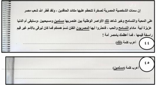 15 امتحان لغة عربية بالاجابات للصف الثالث الثانوي 41140