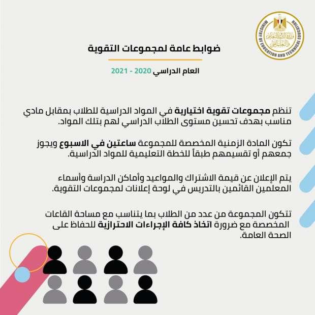 رسمياً..  التعليم تعلن ضوابط مجموعات التقوية للطلاب فى المدارس 41389