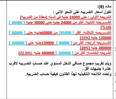 مشروع بقانون فيه زيادة الشريحة المعفاة ١٦ الف مما يعنى زيادة صافي دخل الموظف 414410