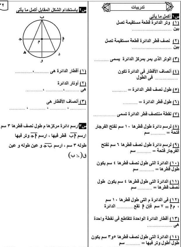 مراجعة علي المجموعات والهندسة رياضيات الصف الخامس الابتدائي  ا. داليا عبد المنعم 41565