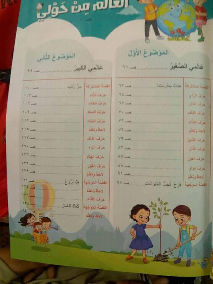 كتاب اللغة العربية الجديد للصف الأول الابتدائي 2019.. تعليم 2.0  4177