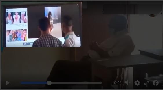 """عاجل l التعليم تستبعد المعلم الذي ظهر في فيديو الراقصة """"لورديانا""""على شاشات مدرسة نجح حمادي  4189"""