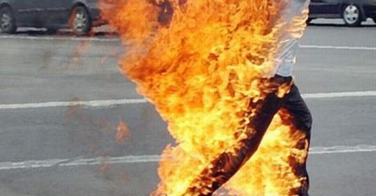 بسبب مديرة المدرسة..  معلم يشعل النار في نفسة بسوهاج 4228