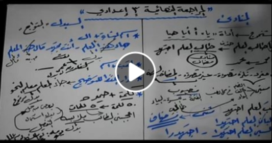 المراجعة النهائية في النحو (فيديو خطير) للصف الثالث الإعدادي أ/ عبد الله الشهاوي 4408