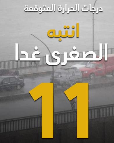 الأرصاد l  غداً أمطار ورياح مثيرة للرمال والأتربة والصغرى بالقاهرة 11 درجة  44112