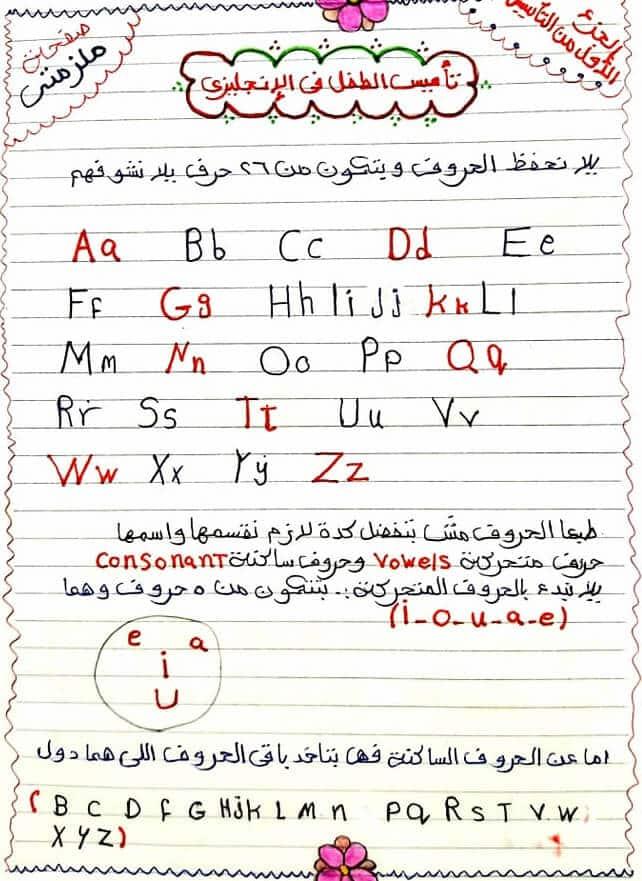 ملزمتي لتأسيس الأطفال في اللغة الانجليزية.. اسس طفلك صح 44215
