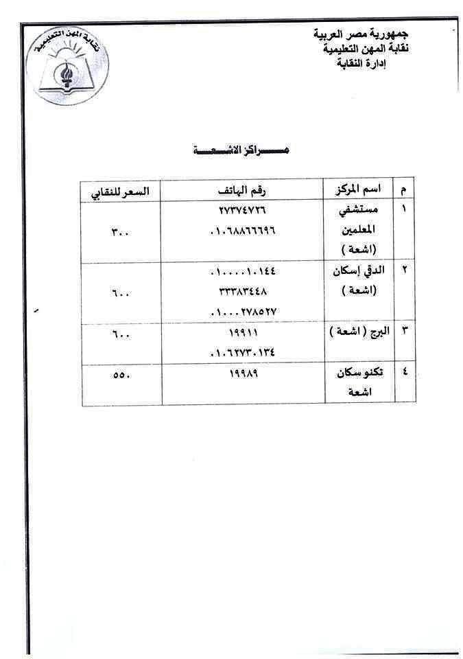 المعلمين: 15 معملاً لإجراء تحاليل كورونا للأعضاء 44233