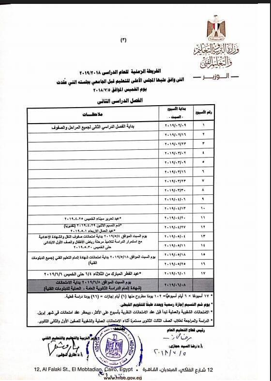 «التعليم» تحسم الخلاف حول احتساب يوم السبت إجازة رسمية بالمدارس  445