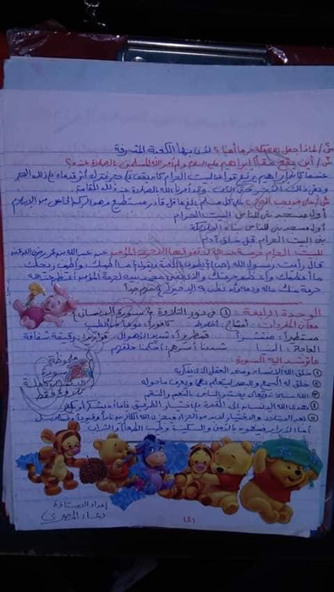 مراجعة الدين للصف الخامس الابتدائي ترم ثاني أ/ دعاء المصري 4615