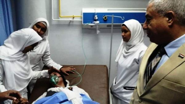 ارتفع عدد حالات الاختناق بين طالبات ومعلمات مدرسة حسين مرسال بأسوان لـ 84 حالة 46811