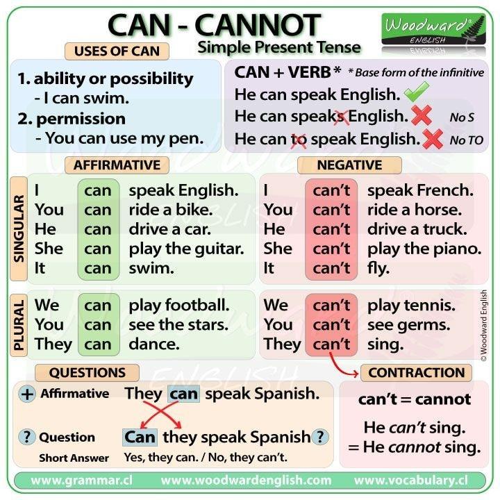 Can. Can't.. مراجعة لغة انجليزية للصف السادس 4837