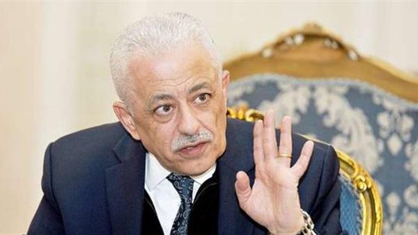 """وزير التعليم:  منصة """"حصص مصر"""" مجانية حتى إجازة نصف العام فقط 49241"""