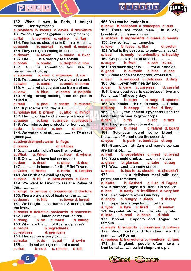لغة انجليزية | 250 جملة اختياري للصف الأول الإعدادى لن يخرج عنهم امتحان الترم الاول 51310