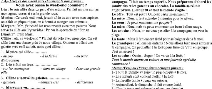 امتحان لغة فرنسية للصف الثالث الثانوي أ/ حسام ابو المجد 5205