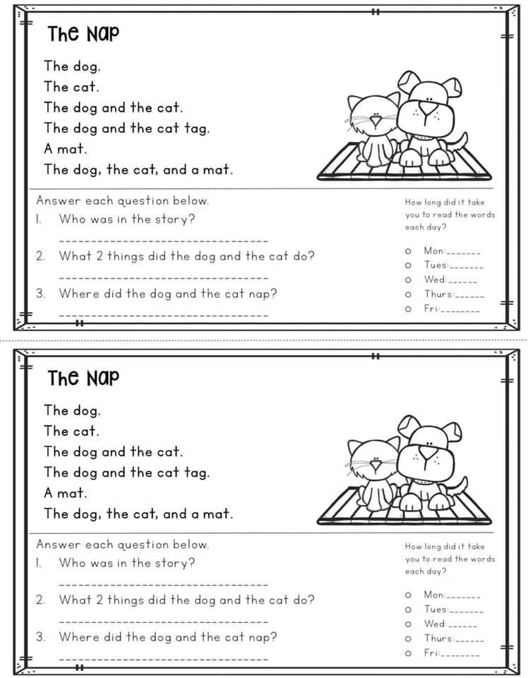 قطع الفهم في اللغة الانجليزية للصف الاول والثاني والثالث الابتدائي 5468