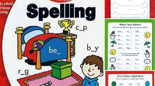 تأسيس انجليزي..  كتاب مصور يعلم طفلك الطريقة السليمة لتهجي الكلمات 55111