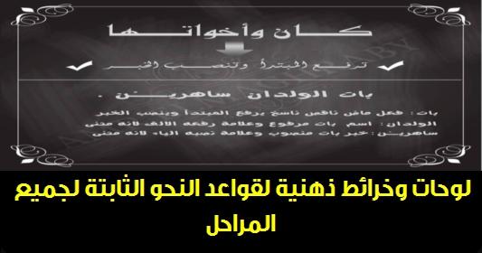مذكرة قواعد النحو الثابتة لجميع المراحل.. أستاذ / عمرو المغربي 5533
