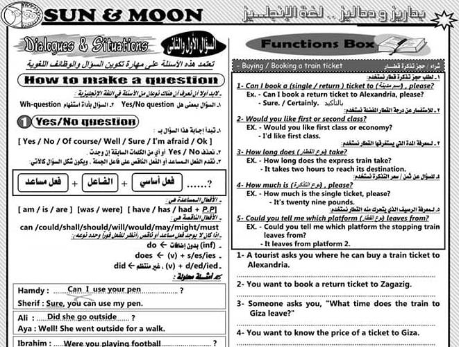 مراجعة اللغة الانجليزية للصف الثالث الاعدادي ترم ثاني أ/ عادل مجدي 5586