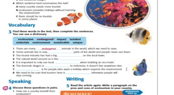 اجابات تمارين كتاب الطالب والورك بوك للصف الاول الثانوي 5833