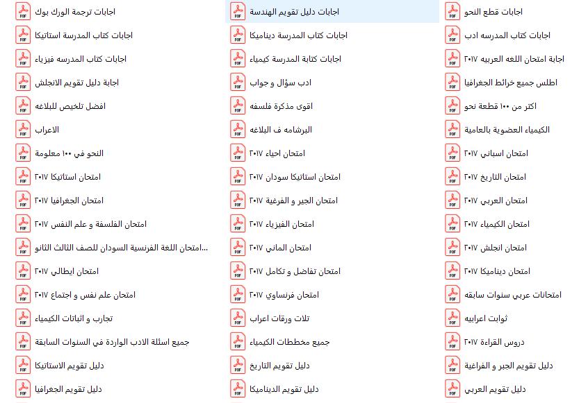 تجميع مراجعات الصف الثالث الثانوي في كل المواد 58372910