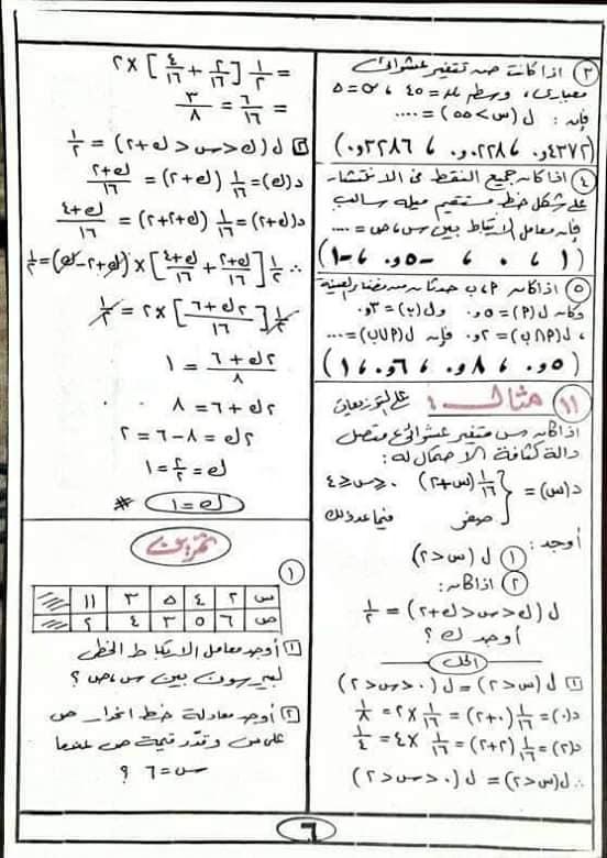 مراجعه الإحصاء للصف الثالث الثانوي أ/ أحمد عبد الحميد 6476